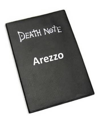 "Arezzo no ""caderninho preto""."