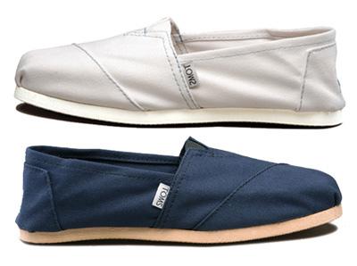 TOMS Shoe: uma alpargata mais estilizada, em que a cada par vendido, um é doado para uma criança carente.