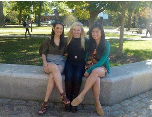 Meg Partridge, Jenna Rodrigues and Carmina Mancenon: co-founders of the Sustainable Fashion Initiative.
