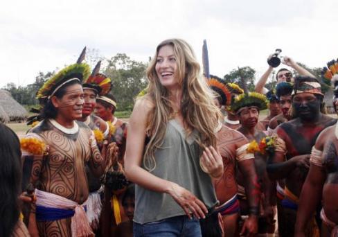 Gisele no Xingu.