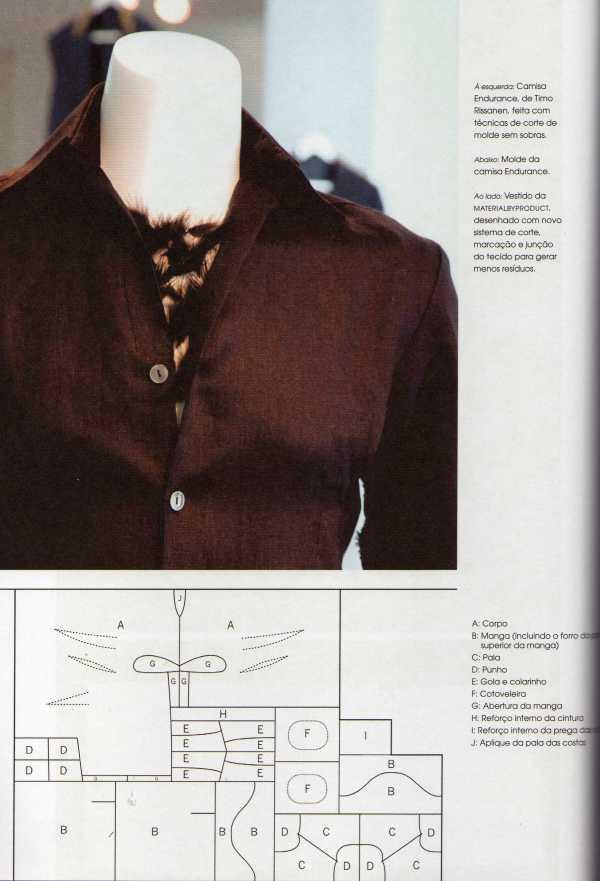 Uma bela camisa sem gerar retalhos. Clique na imagem para visualizar melhor. Dá pra seguir a receita e fazer.