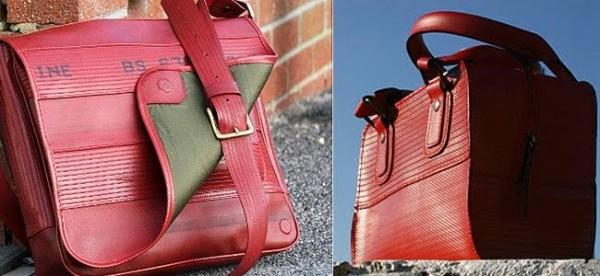 Bolsas recicladas.