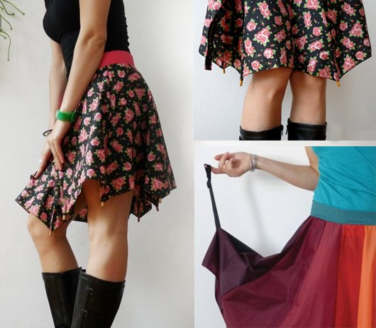 Umbrella skirt. Saia de guarda-chuva quebrado.