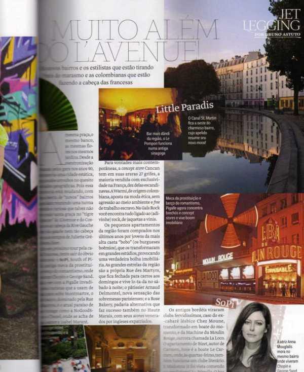 Página da Vogue Brasil de junho 2012. Coluna de Bruno Astuto citando o termo moda ética.