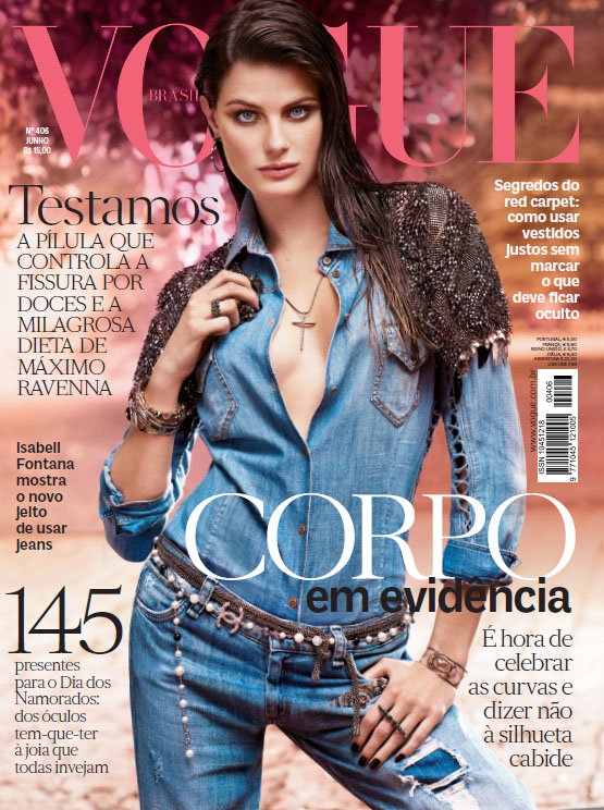 Vogue Brasil junho 2012, com Isabeli Fontana na capa.