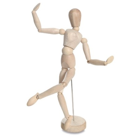 Boneco articulado: é preciso compreender o corpo humano além da sua representação em miniatura de madeira.