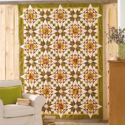 Divisória de parede de patchwork.