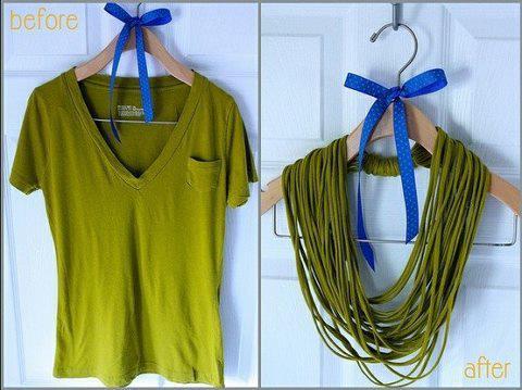 Camiseta de malha -> colar!