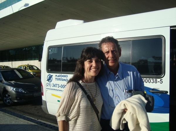 """Eu com o sr. Fernando Dolabella, companheiro de ida e volta do RJ a Paraty, autor de """"O segredo de Luísa"""" e possivelmente uma das principais vozes sobre o empreendedorismo no Brasil."""