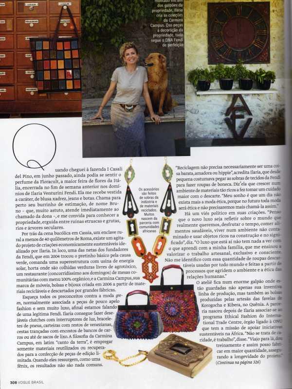 Ilaria Fendi, deixou a moda da Fendi pela moda ética.
