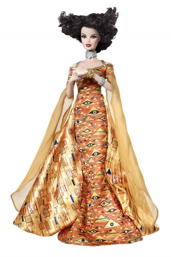 Barbie inspirada em Adele, de Klimt.