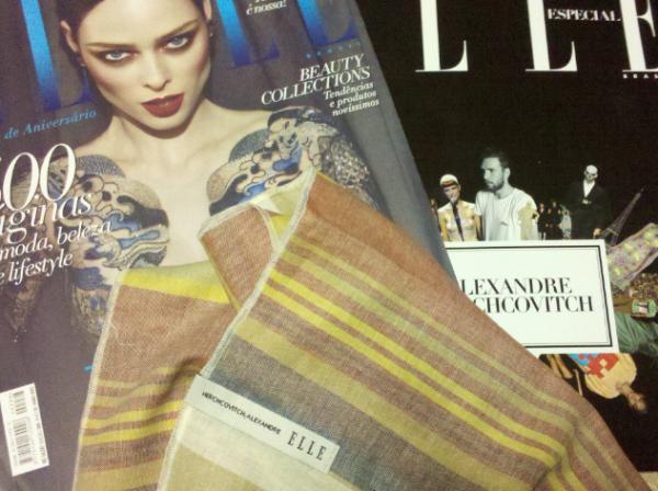 Lenço do Herchcovitch para Elle, maio 2012.