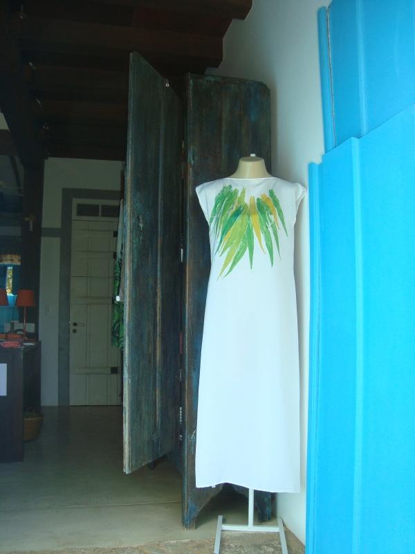 """Vestido """"Osklen inspired"""" que fotografei recentemente em uma lojinha em Paraty."""