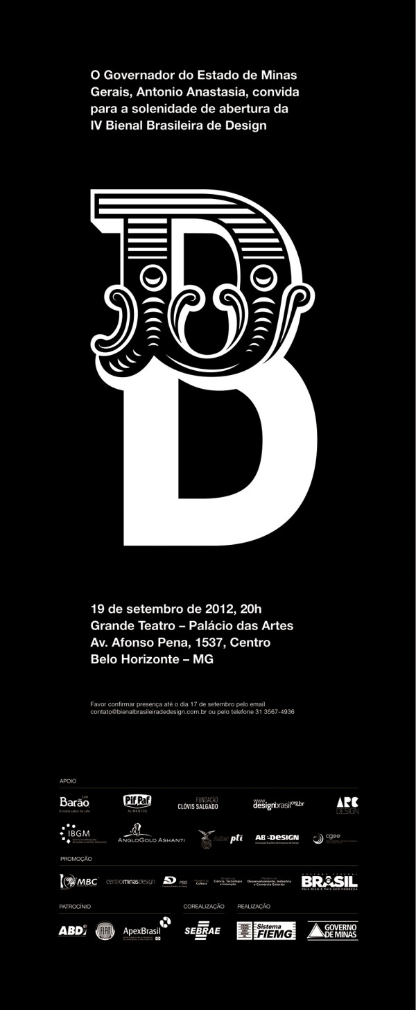 Tá dada a largada para a IV Bienal Brasileira de Design!