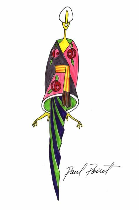 Paul Poiret seduzido pelo exotismo do japonismo expressa um quimono europeizado.