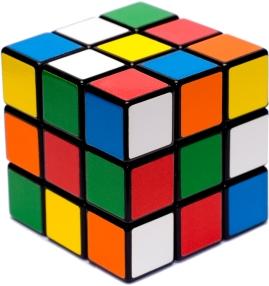 O indefectível cubo-mágico dos anos 1980: gira pra lá, muda pra cá, mas continua o mesmo cubo multicolorido.