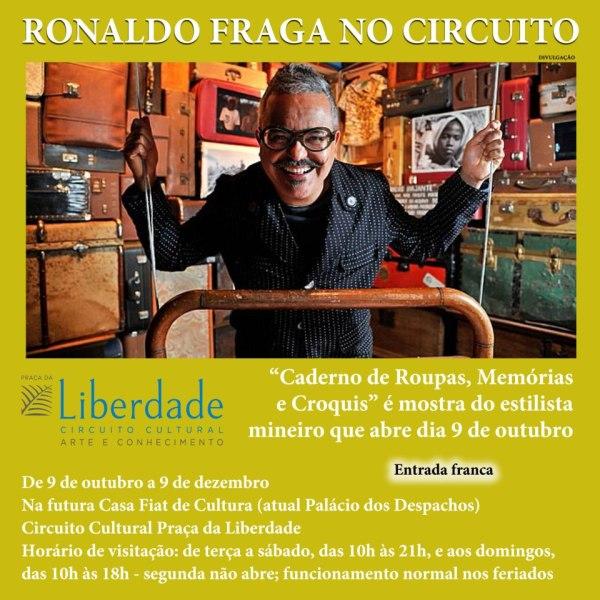 """Após completar 35 coleções, Ronaldo Fraga reúne parte de seu repertório na exposição """"Caderno de Roupas, Memórias e Croquis"""". A partir de 09 de outubro."""