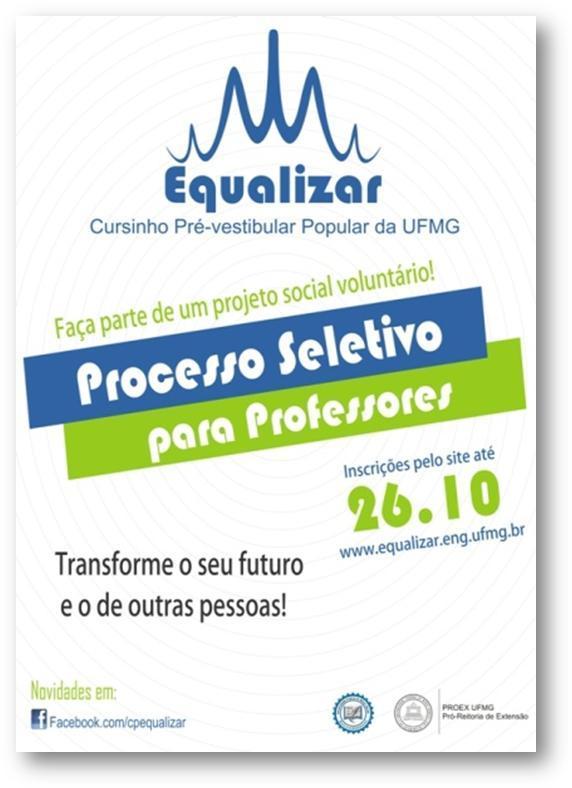 Cursinho pré-vestibular gratuito UFMG.