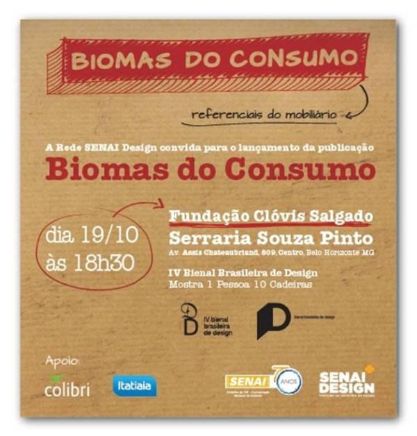 Lançamento do caderno de mobiliário Biomas do Consumo.