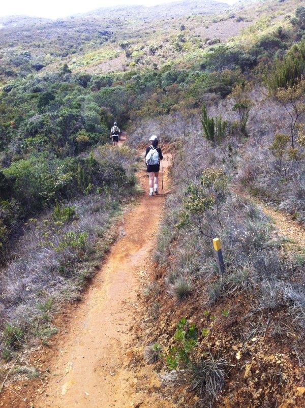 Uma boa trilha que tinha uma cobra no meio do caminho - além de vááárias pedras.