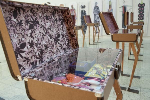 Detalhe da exposição de Ronaldo Fraga no Palácio dos Despachos. Foto de Nilmar Lage.