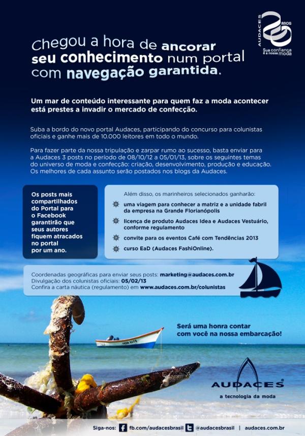 Concurso Colunistas Portal Audaces 2013
